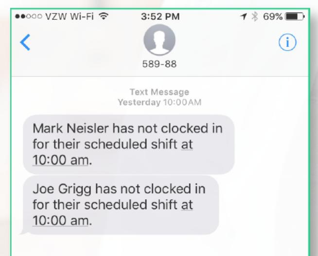late employee notification
