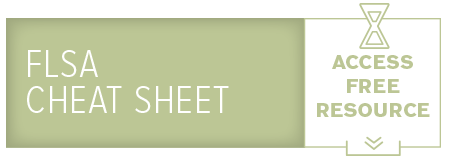 FLSA Cheat Sheet