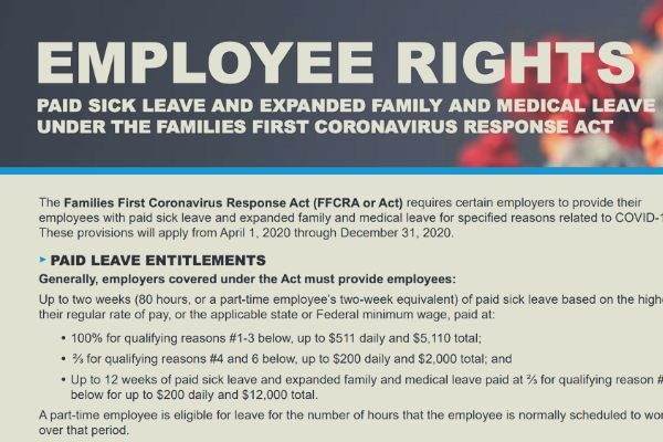 New FFCRA Labor Poster Requirement